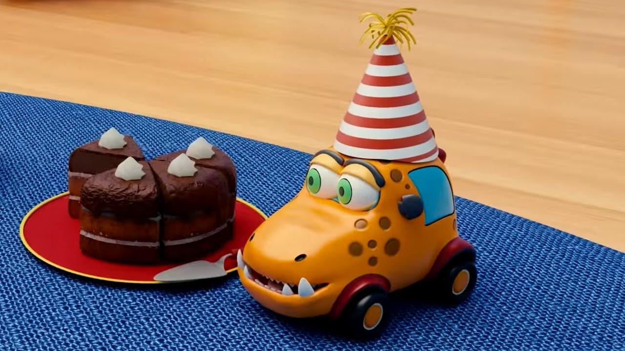 Машинки Мокас 🚕 День рождения Басси 🚙 Развивающие мультики для детей и малышей 🚗