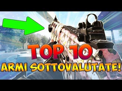 """TOP 10 """"ARMI SOTTOVALUTATE"""" NELLA STORIA DI CALL OF DUTY! (COD: Multiplayer - ITA)"""