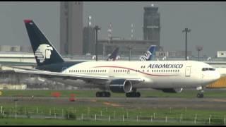 Aeromexico B767-200 in Tokyo-Narita landing & takeoff / en Tokyo-Narita aterrizaje y despegue