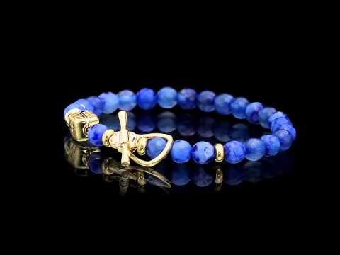 scali - blue microphone  bracelet