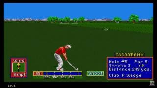 PGA Tour Golf II (1992) Sega Genesis Gameplay HD