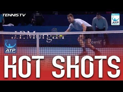 Zverev Falls And Sock Responds With Sweet Winner Hot Shot Nitto ATP Finals 2017