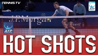 Hot Shot: Zverev Falls And Sock Responds With Sweet Winner Nitto ATP Finals 2017