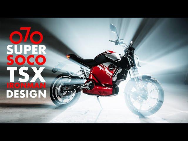 Super Soco TsX Iron Man Design