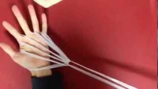 あやとり ほうき  作り方  やり方 簡単 How to make an ayatori  broom