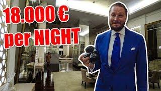Luxury Hotel: 18.000€ one Night 😮 Biggest Hotel Room in whole Emirates