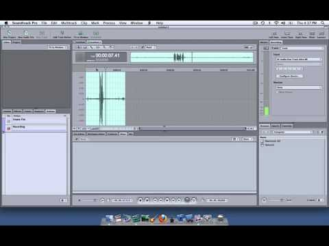 Soundtrack Pro Tutorial - Recording Microphone audio