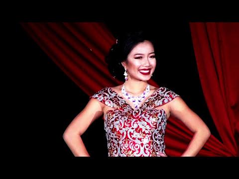 Miss. Hmong Wisconsin 2018 evening wear at Milwaukee Hmong new year.
