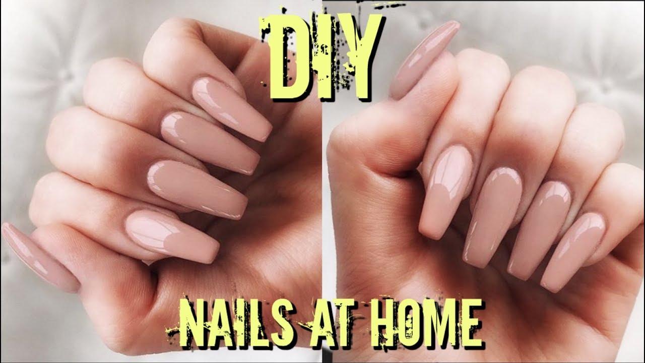 DIY FAKE NAILS AT HOME $6   EASY, QUICK & CHEAP - YouTube