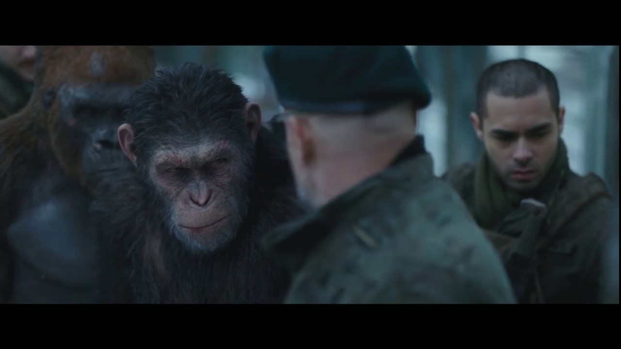 """Download Colonel picks up Virus-Infected Doll """"What is this?""""   War for the Planet of the Apes (2017)"""