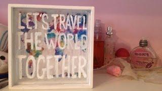 Diy: Let's Travel The World Shadowbox