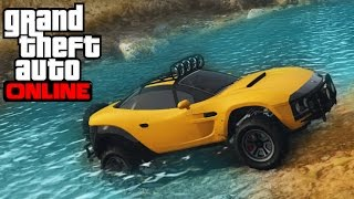 ★ GTA 5 - Monster Car Mudding & Mountain Climbing - 4x4 Off-Roading (GTA V Coil Brawler)