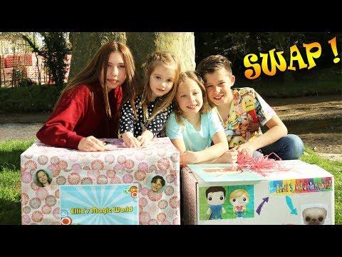 SWAP AVEC GABIN ET LILI ! Lana, Ellie, Gabin et Lili se rencontrent et s'échangent des cadeaux !