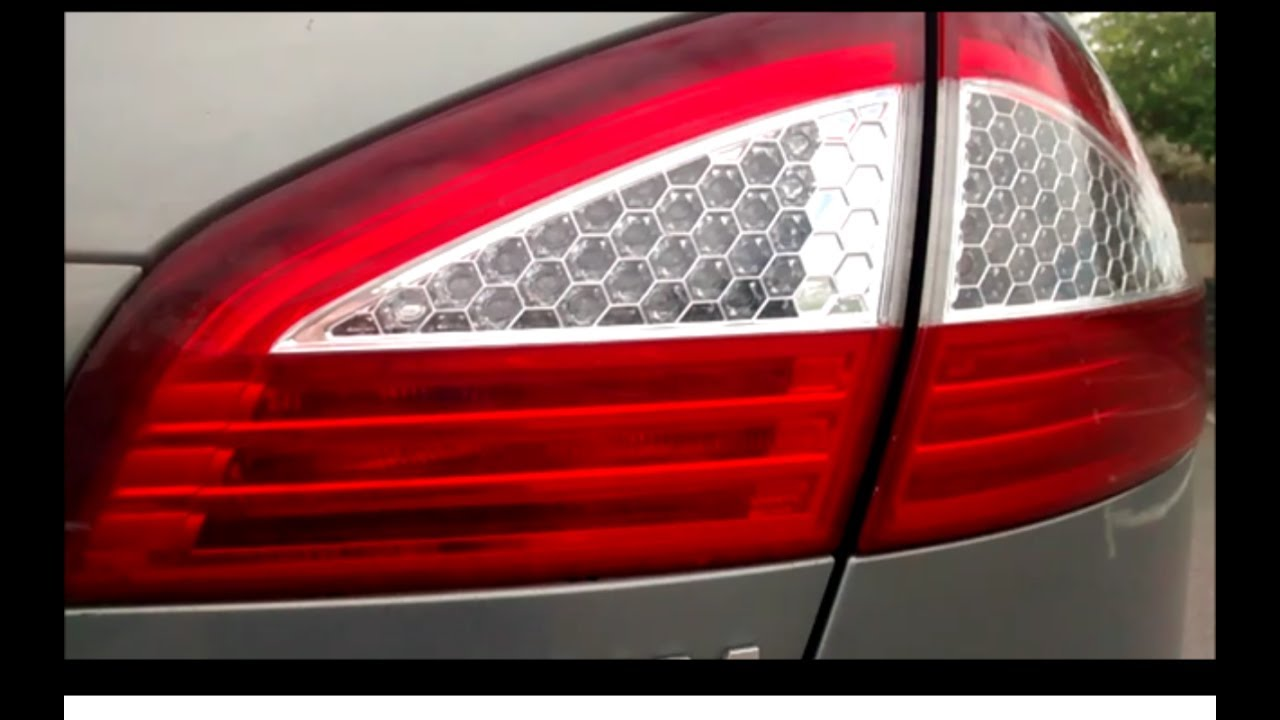 easy walkthrough guide to replace ford mondeo rear brake light or reverse tail light bulb [ 1280 x 720 Pixel ]