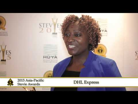 DHL Express NZ Customer Services share a few words at the 2015  Asia Pacific Stevie Awards.