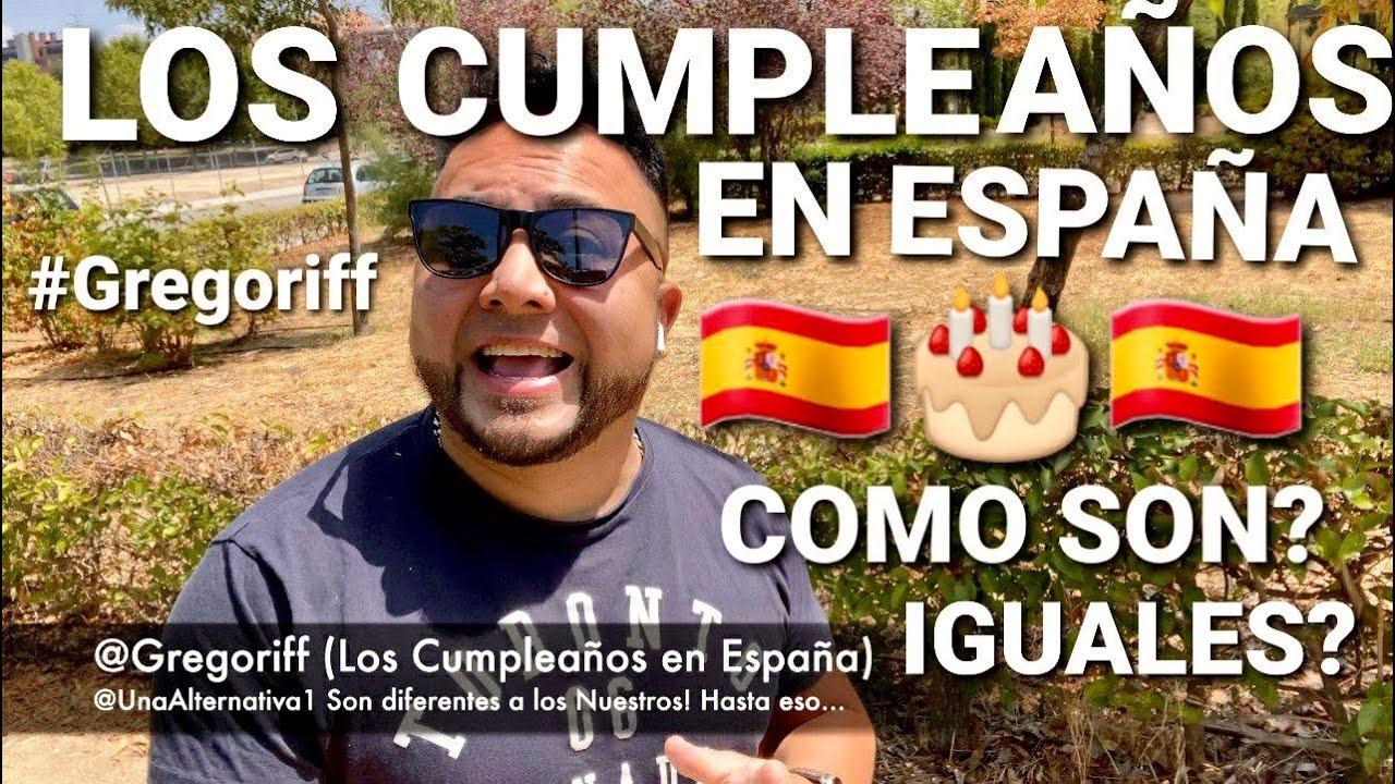 ✅ HASTA ESO TAN TONTO 🥳 🥳 ES DIFERENTE 🤨🙄🤨 AQUI EN ESPAÑA #CUMPLEAÑOS #MADRID #GREGORIFF #CELEBRAR