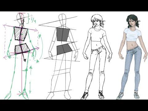 como dibujar la figura femenina con una postura  YouTube