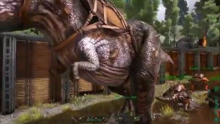 ARK:Survival Evolved s2e5 taming a trex and get a baby trex