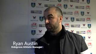 Kidsgrove Athletic manager Ryan Austin on 3G pitches