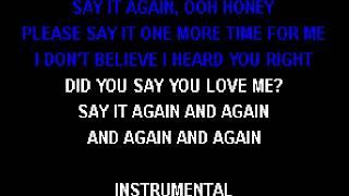 Jermaine Stewart   Say It Again Karaoke