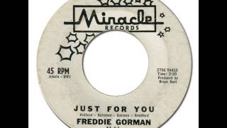 FREDDIE GORMAN - Just For You [Miracle 11] 1961 Early Motown