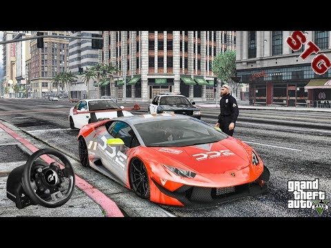 GTA 5 REAL LIFE MOD #703 - LET'S GO TO WORK!!!(GTA 5 REAL LIFE MODS) T-GT STEERING WHEEL
