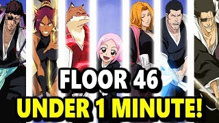 Bleach Brave Souls: Senkaimon Tower - Floor 46 Under 1 Minute! (12/3 - 12/17)