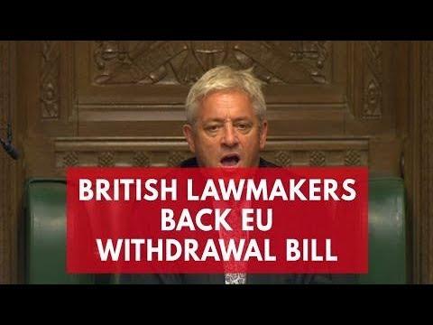 UK Politicians pass through EU withdrawal bill