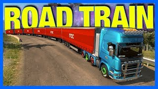ROAD TRAIN!! (Euro Truck Simulator 2) **10,000 Horsepower**