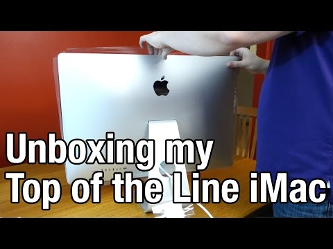 "Unboxing my 27"" iMac 5K Retina Display 32GB Ram 3TB Fusion Drive 4Ghz Intel Core i7"