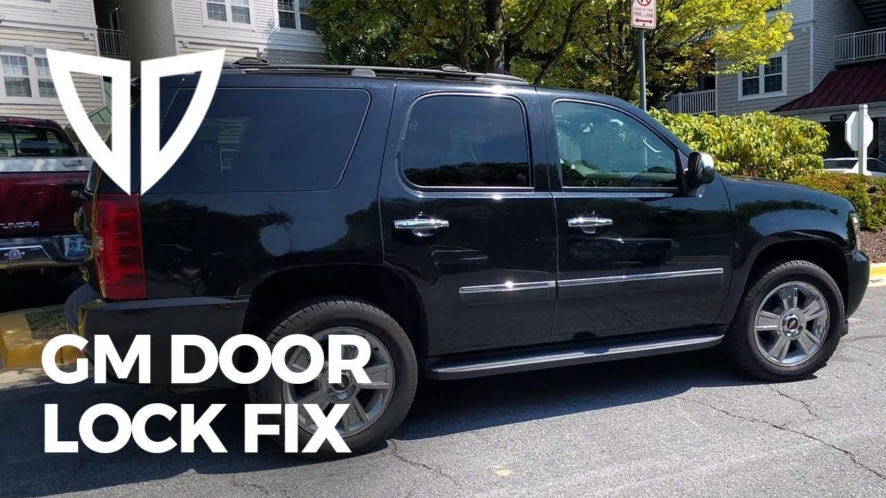 gm truck door lock fix chevrolet tahoe suburban silverado avalanche gmc sierra cadillac escalade [ 1280 x 720 Pixel ]