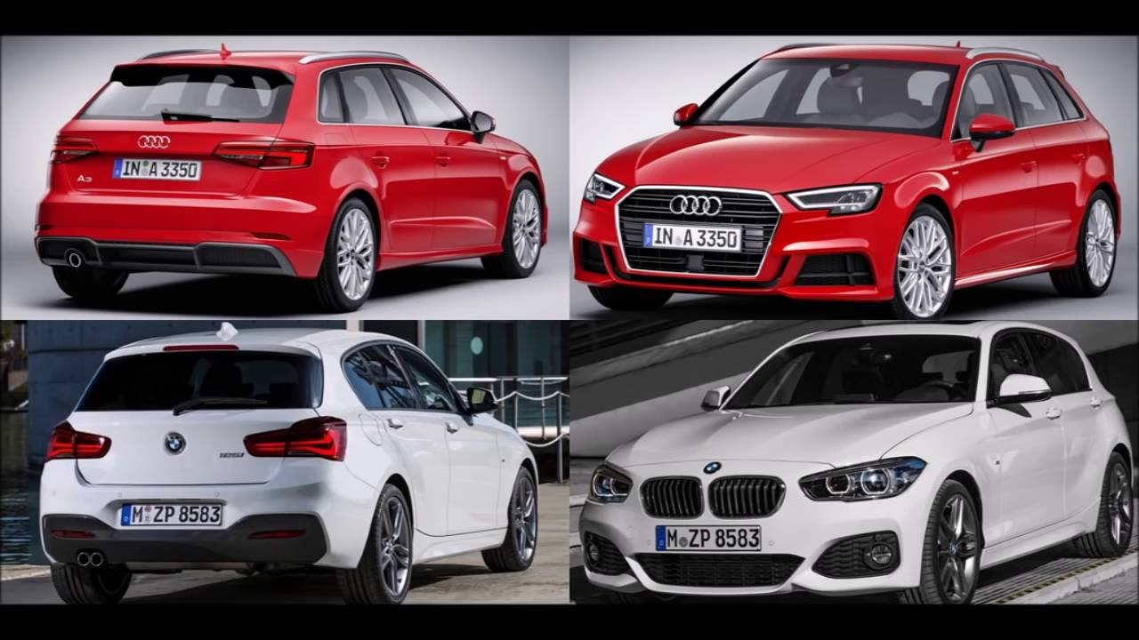 2017 audi a3 sportback vs 2016 bmw 1 series hatchback design youtube. Black Bedroom Furniture Sets. Home Design Ideas