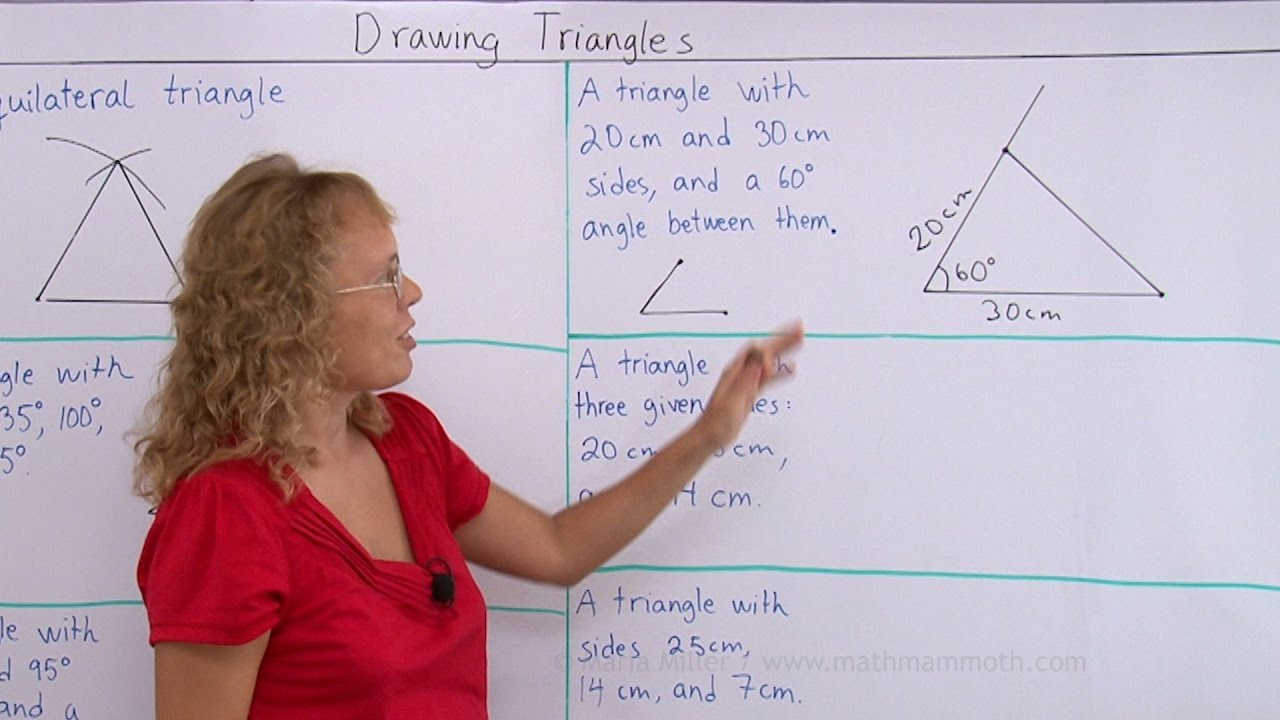 hight resolution of Drawing triangles with given conditions - YouTube