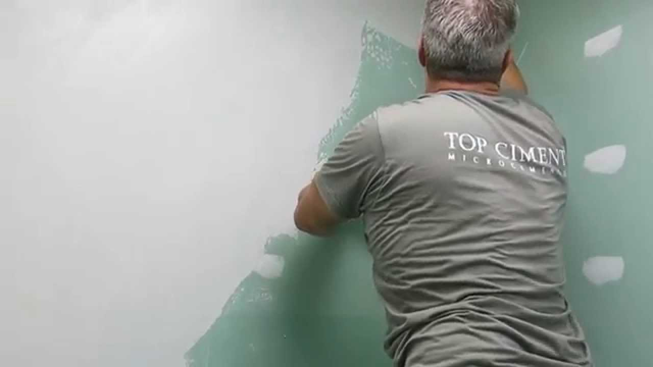 Aplicaci n de microcemento sobre pladur youtube - Microcemento sobre azulejos ...