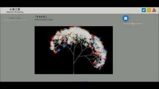 HTML5 Canvas + Web Audio API  Fractal-Tree-like drawing