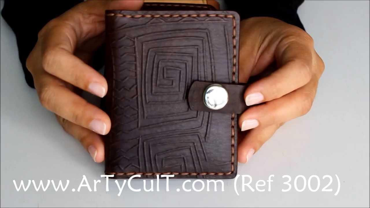 Cartera Tarjetero De Piel Www Artycult Com Ref 3002 Youtube