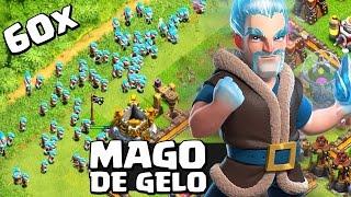 USEI O MAGO DE GELO NO CLASH OF CLANS! NOVA TROPA