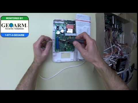 honeywell vista 20p  how to wire the gsmv4g to the wired security system
