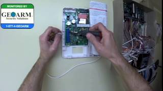 Honeywell Vista 20P : How to Wire the GSMV4G to the Wired Security System