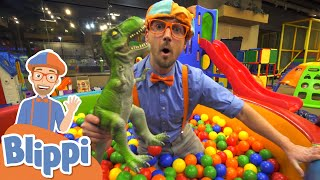 Blippi Visits The Kinderland Indoor Playground! | Educational Videos for Toddlers