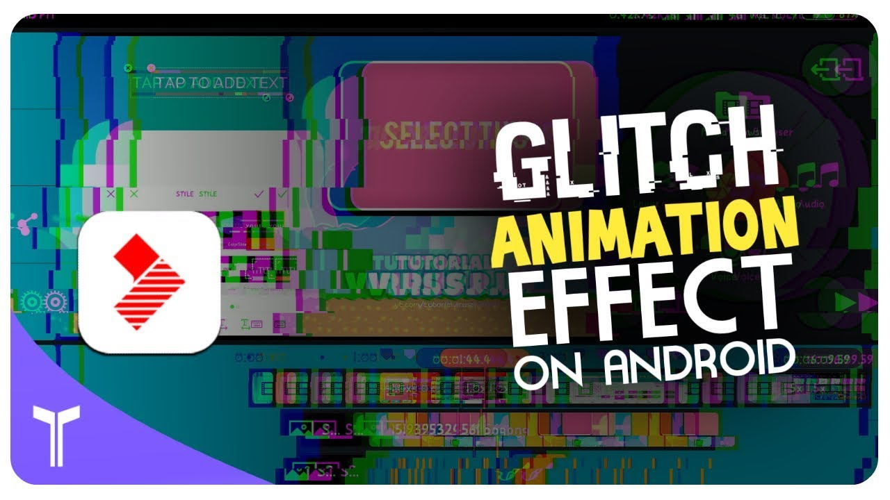 How to make glitch effect animation on Android / Vlogit full TUTORIAL /  Tutorial Virus Rj