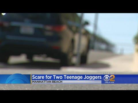 2 Teenage Girls Jogging See Man Exposing Himself In Car