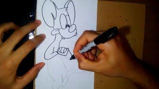como dibujar a pinky - how to draw pinky (pinky and the brain)