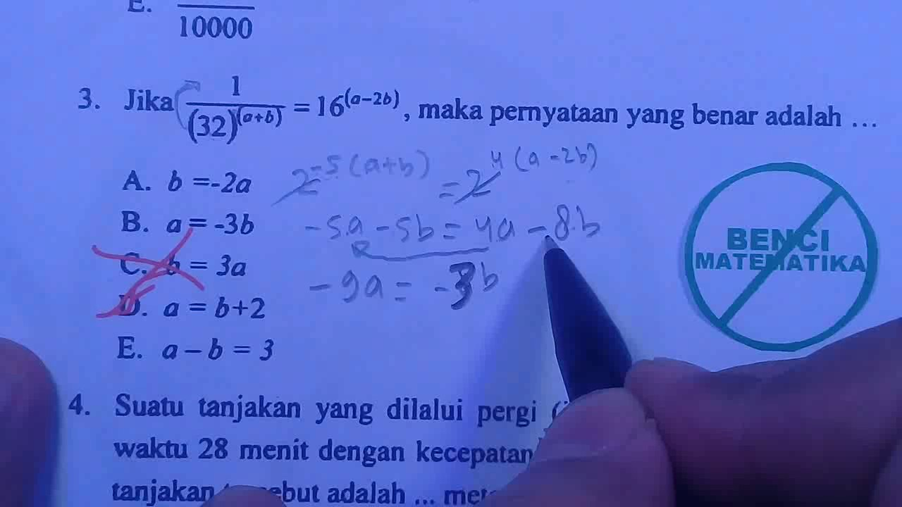 Pembahasan Soal Matematika Ujian Masuk Sekolah Tinggi Ilmu Statistik