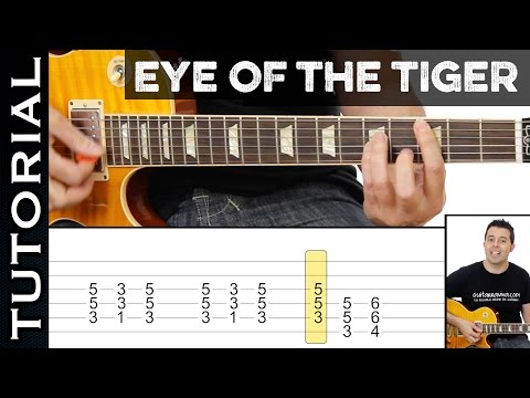 Como tocar EYE OF THE TIGER ( de ROCKY III ) en guitarra eléctrica
