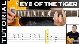 Como tocar EYE OF THE TIGER ( de ROCKY III ) en guitarra eléctrica