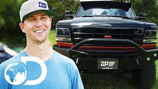 A Blacked Out 1996 Ford Dually Truck for Jacob deGrom | Diesel Brothers