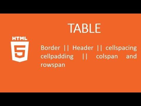 HTML Tutorial 10 || Properties of Table thumbnail