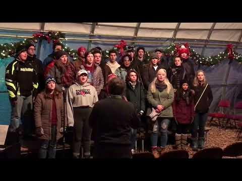 Westby High School Choir, Rotary Lights, Dec. 26, 2017 - Silent Night