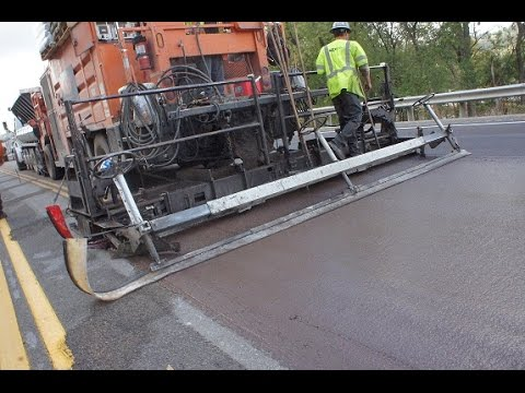 Micro-Surfacing on WV 2 in Marshall County